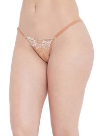 N-Gal Lace Adjustable Waist Band G-String Thong Panty