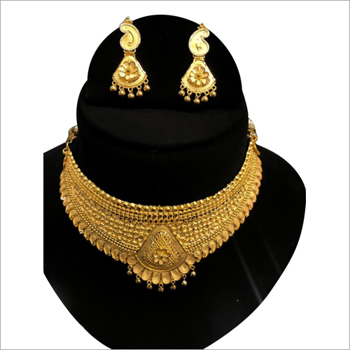 Designer 24 Carat Gold Necklace Set