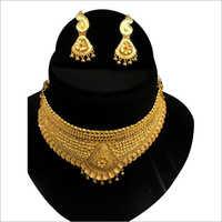 Designer 24 Carat Gold Necklace Set