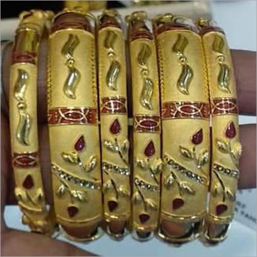 Modern Pure Gold Bangles