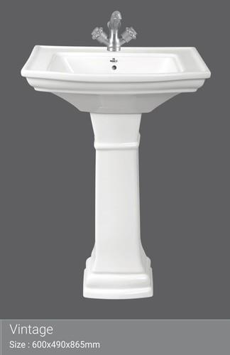 Crowny Wash Basin With Pedestal