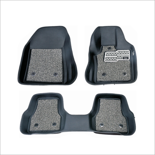 5D Car Mat With Grass Mat