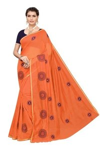 New FANCY  Chanderi Cotton Saree