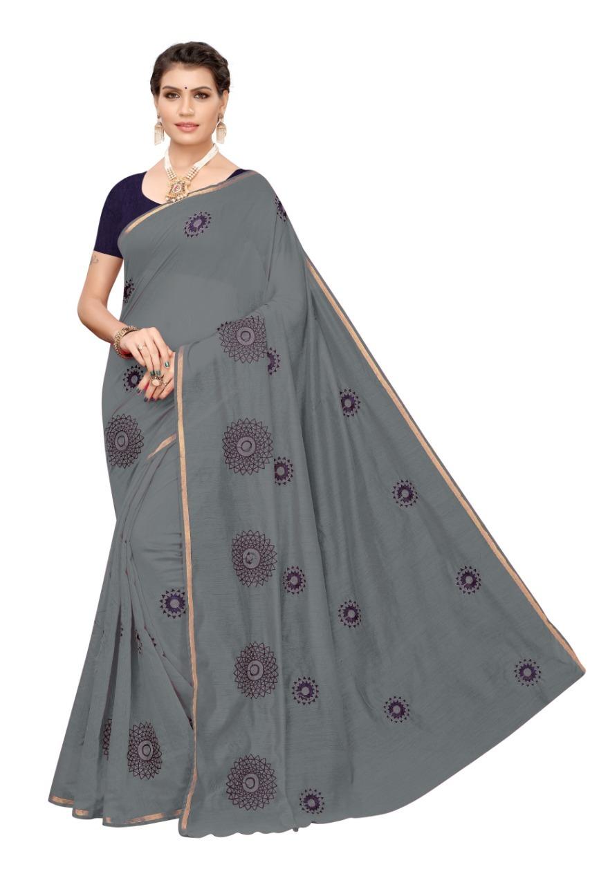 New FANCY  Chanderi Cotton Saree