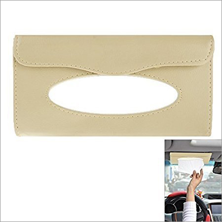 Beige Tissue Holder For Cars