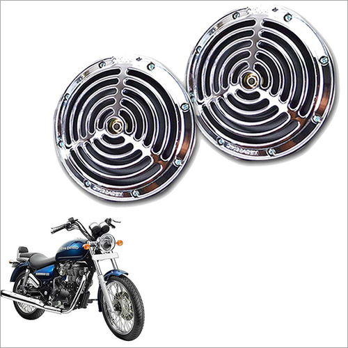 Small Size Silver Grill Horn for All Bike-Scooter (Set of 2)