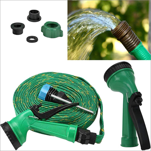 8Meter 4-in-1 Pressure Washing Multifunctional Water Spray with Hose Pipe for Garden Car-Bike-Pet Wash(Multicolour)