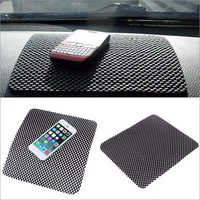 Car Dashboard Mat Anti-Slip Gel Non-Slip Mounting Pad for Cell Phone Sunglasses Keys and More (Black)
