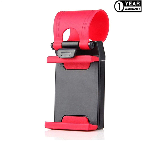 Heavy Duty Adjustable Car Steering Wheel Mobile Phone Holder with Anti Slip Design
