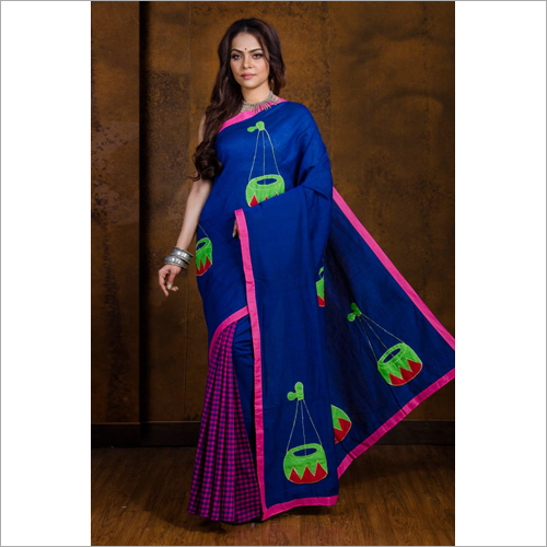 Ladies Boutique Embroidery Saree