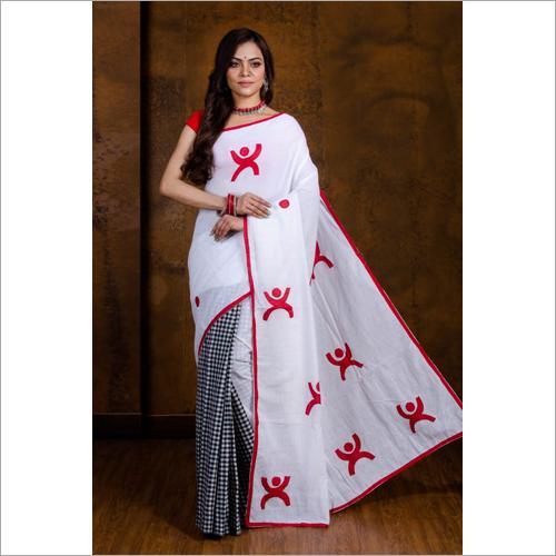 White Boutique Silk Saree