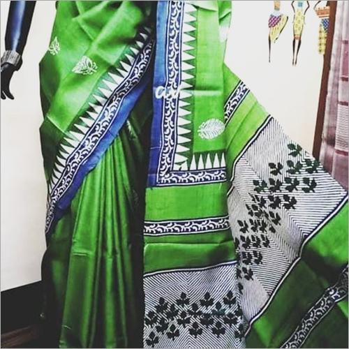 Ladies Green Silk Saree