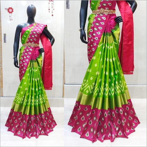 Ladies Ikkat Silk Designer Saree