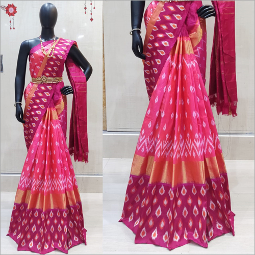 Ladies Pure Ikkat Silk Saree