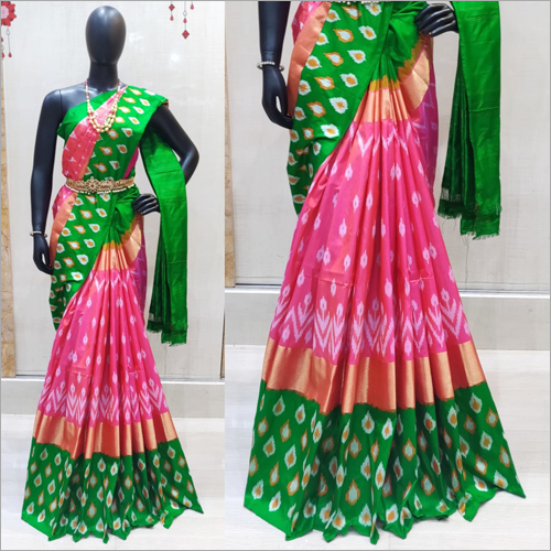 Ladies Ikkat Silk Saree