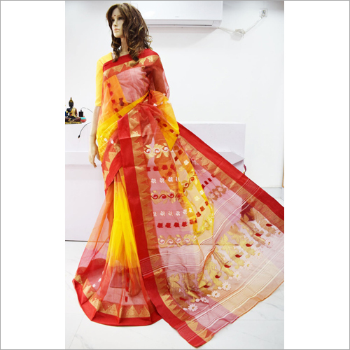 Ladies Handloom Tussar Saree
