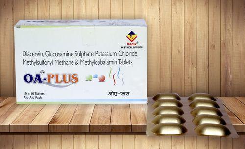 Diacerein 50 Mg, Glucosamine 500 Mg, Methyl Sulphonyl Methane (Msm) 200 Mg & Methylcobalamin 200 Mcg