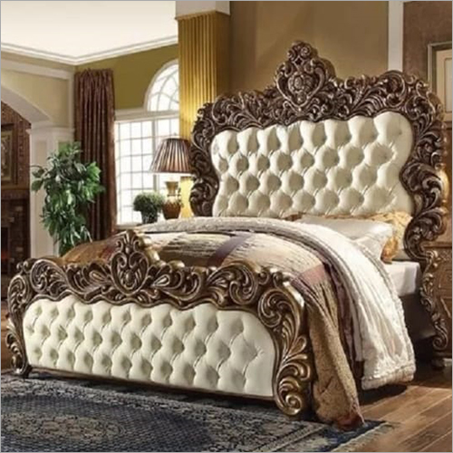 Wooden Carved King Size Bed
