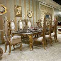 Wooden Antique Maharaja Dining Furniture Set