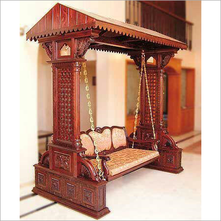 Indian Wooden Carved Swing