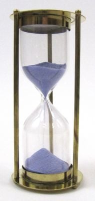 Brass 5 Minute Timer w/ Purple Sand
