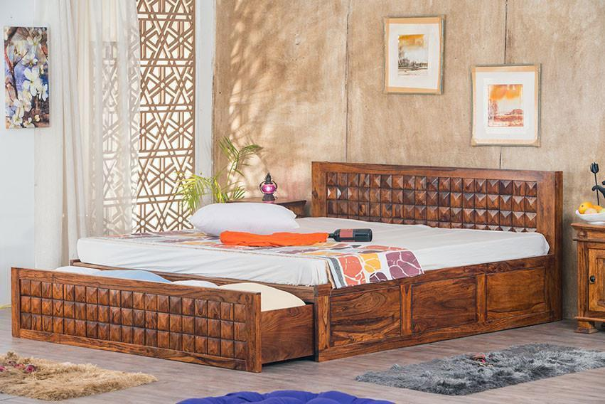Solid Wood Bed Bowley Diamond