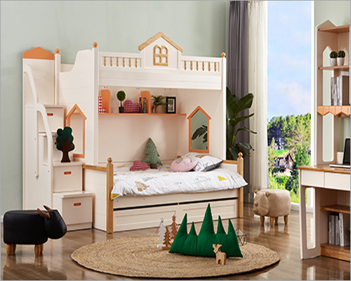 Children Wooden Bunk Bed Furniture