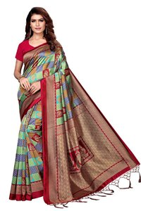 Fancy kalamkari Silk Saree With Jhalar