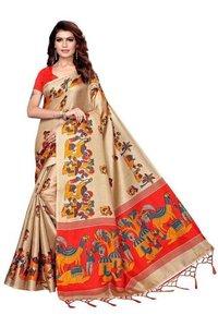 Designer Mysore Kalamkari Silk Saree