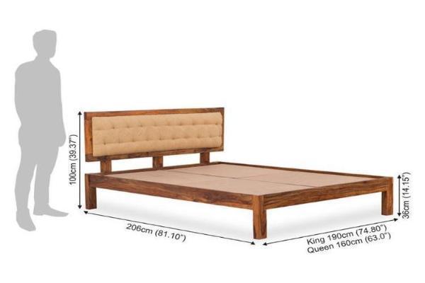 Solid Wooden Bed Glorian Triple Trolley