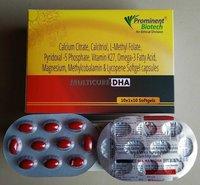Calcium Citrate 500 mg,Calcitriol 0.25 mcg, L-Methyl Folate 1 mg, Pyridoxal-5-phosphate 0.5 mg, Vitamin K(2-7) 45 mcg, Omega3-fatty Acids(EPA 90 mg & DHA 60 mg),Magnesium Sulphate 50  mg,Methylcobalamin 1500 mcg, Lycopene 6%-10000 mcg