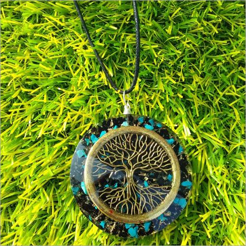 Orgone Black Tourmaline Turquoise Pendant