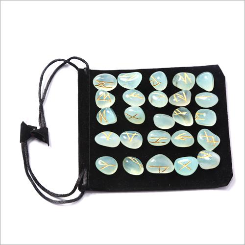 Aqua Rune Stone Set