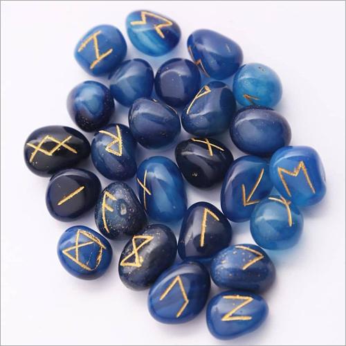Blue Agate Rune Stone