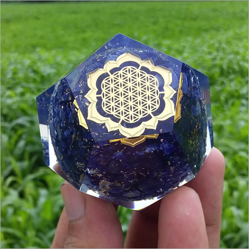 Orgone Lapis Dodecahedron Pyramid