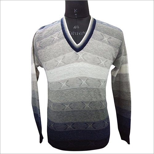 Mens Striped Pullover