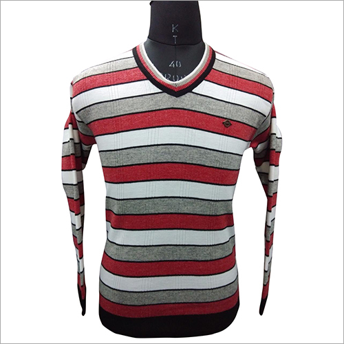 Mens Striped Knitted Sweater