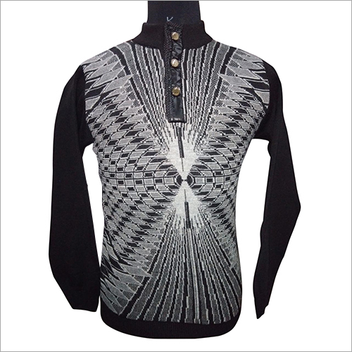 Mens Collar Full Sleeve Sweater