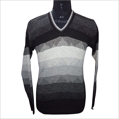 Mens V Neck Full Sleeve Sweater