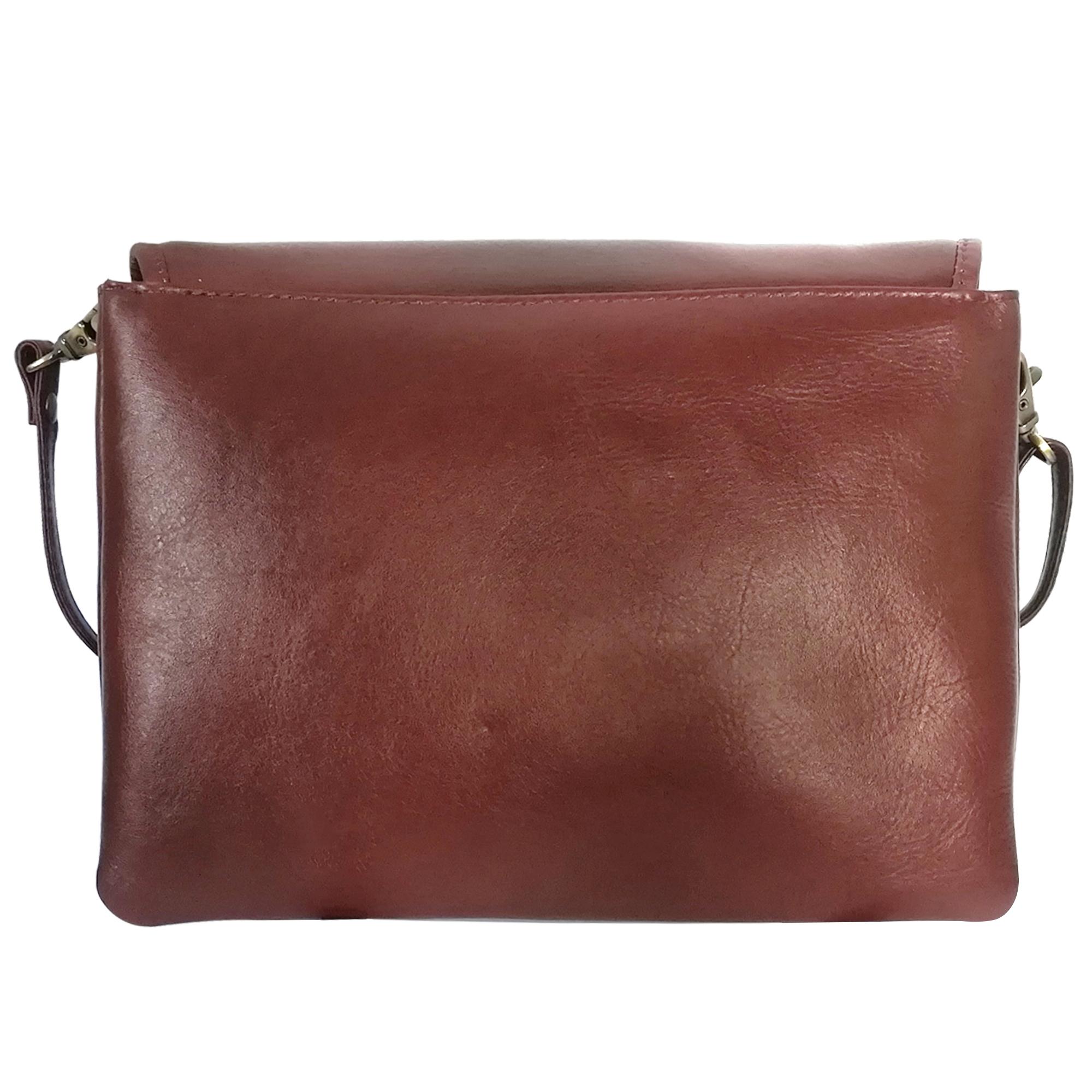 Women Leather Sling Crossbody Shoulder Bag