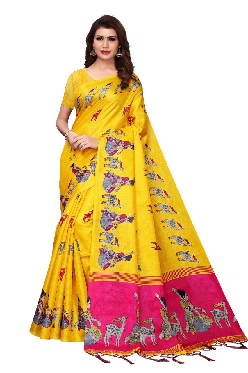Ladies Wear kalamkari Silk saree