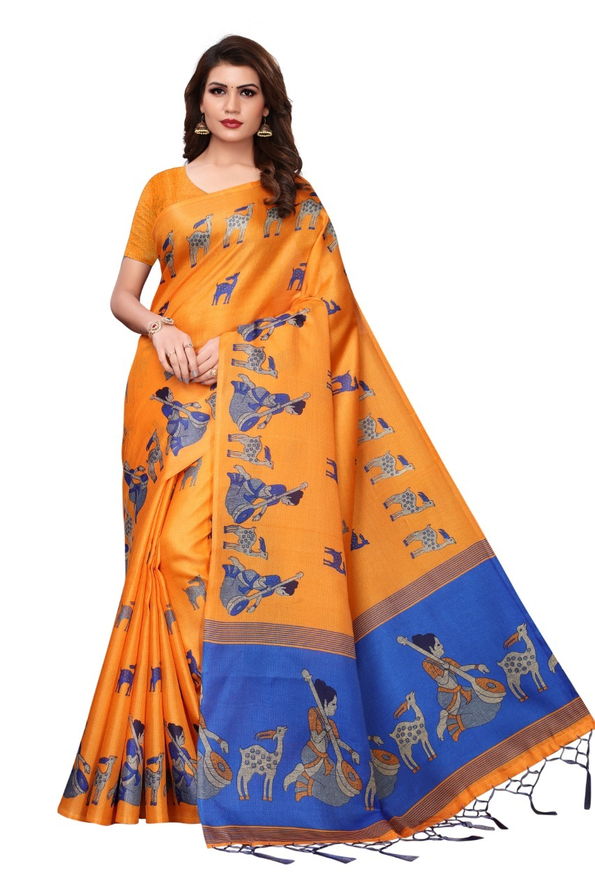 Ladies Wear kalamkari Silk saree