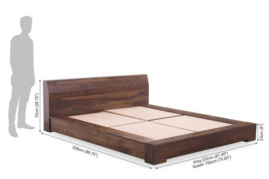 Solid Wood Platform Bed