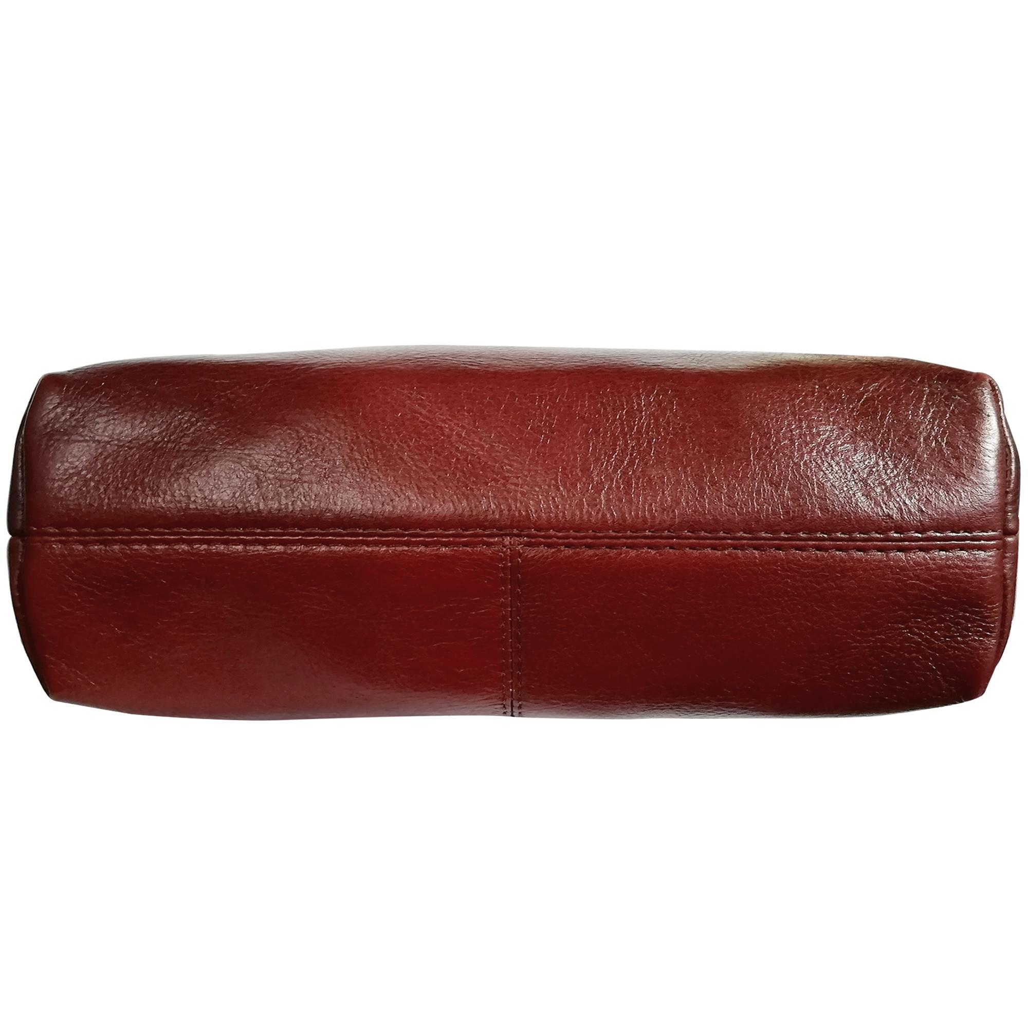 Women Leather Triple Zipper Sling Crossbody Shoulder Bag