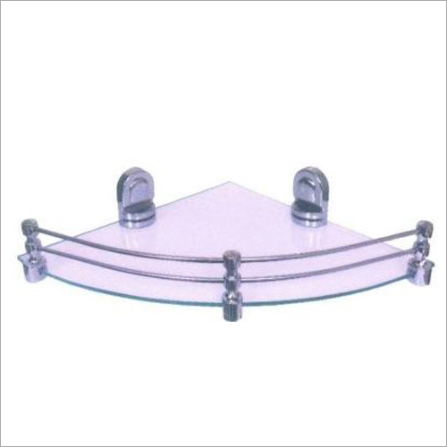 Stainless Steel Triangular Glass Corner Rack