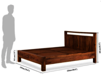 Solid wood bed Lucid