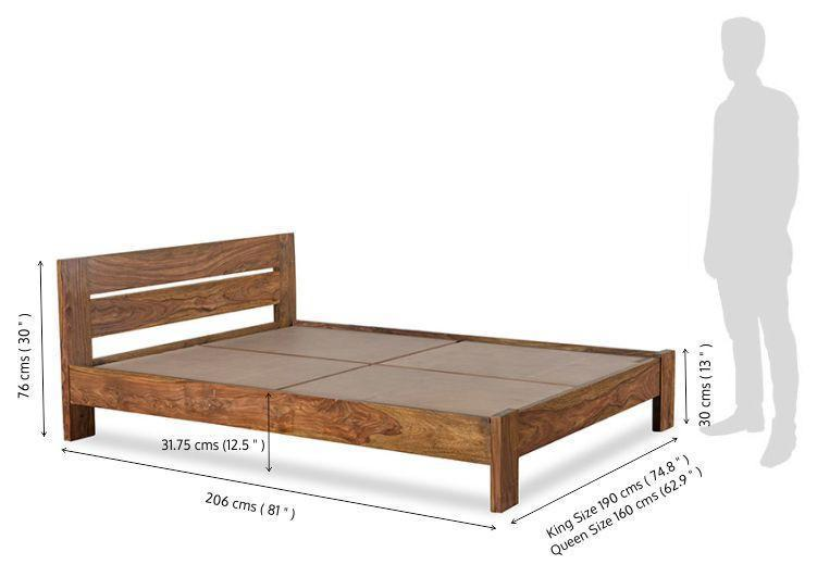 solid wooden Bed Sanity