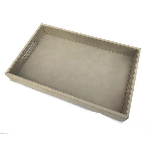 Rectangular Leather Serving Tray