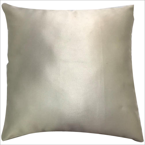 Silver Plain Polyester Cushion Cover