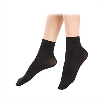 Plain Black High Ankle Socks
